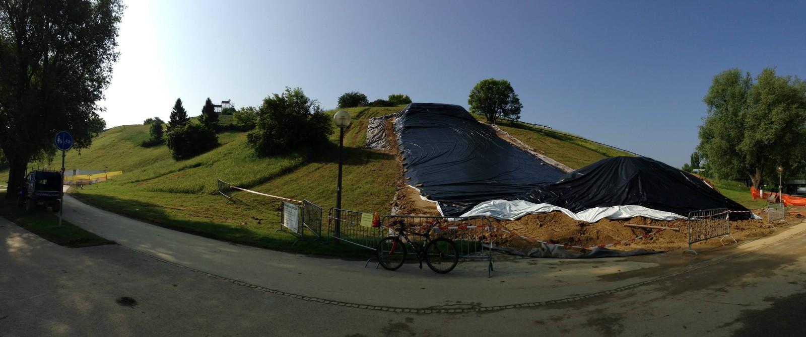 X-Games Munich Slopestyle Course Build - All Things X-Games Munich Slopestyle - Mountain Biking Pictures - Vital MTB