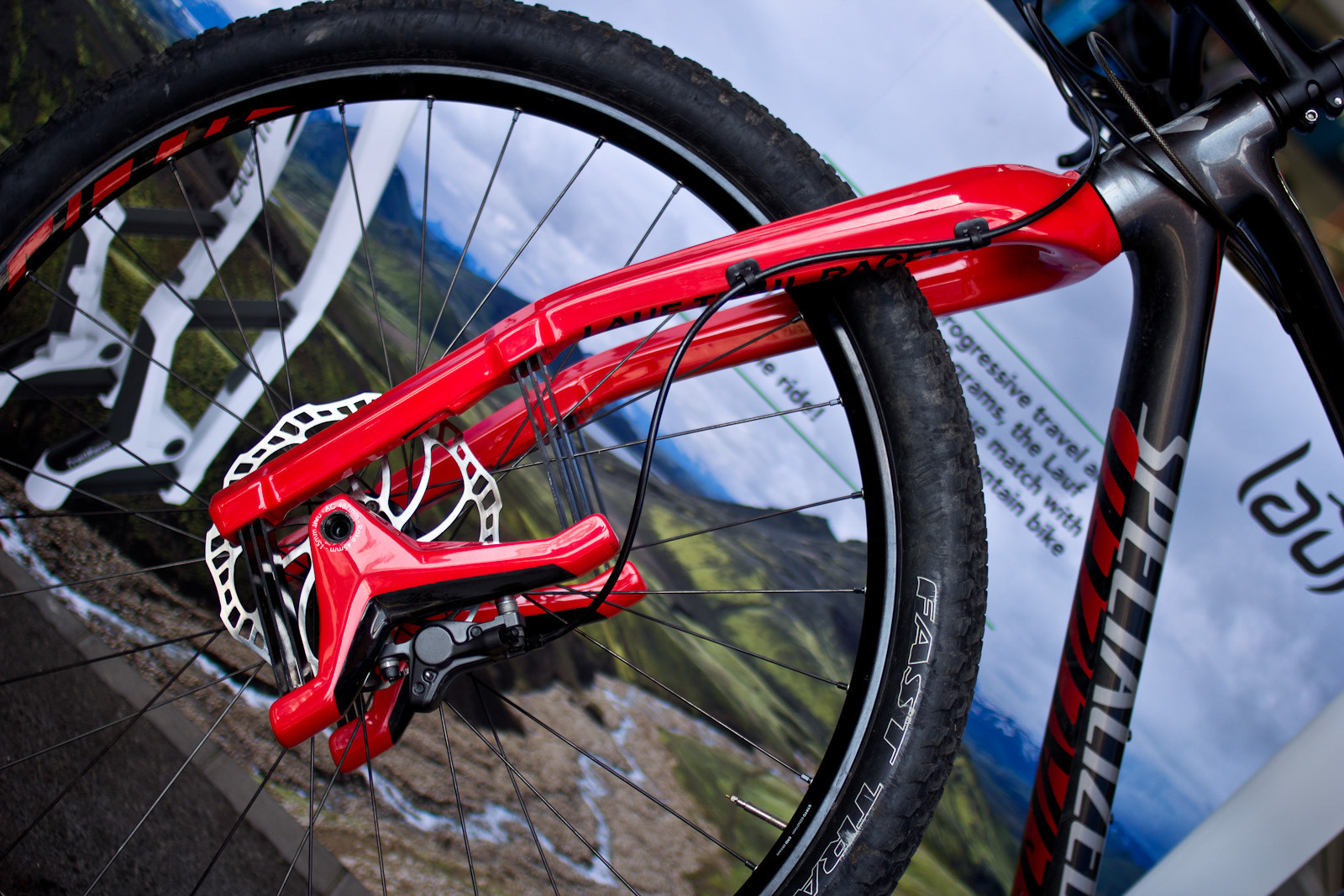 What The?! Wild Looking Lauf Trail Racer Fork - 2014 Mountain Bike Components at Eurobike 2013 - Mountain Biking Pictures - Vital MTB