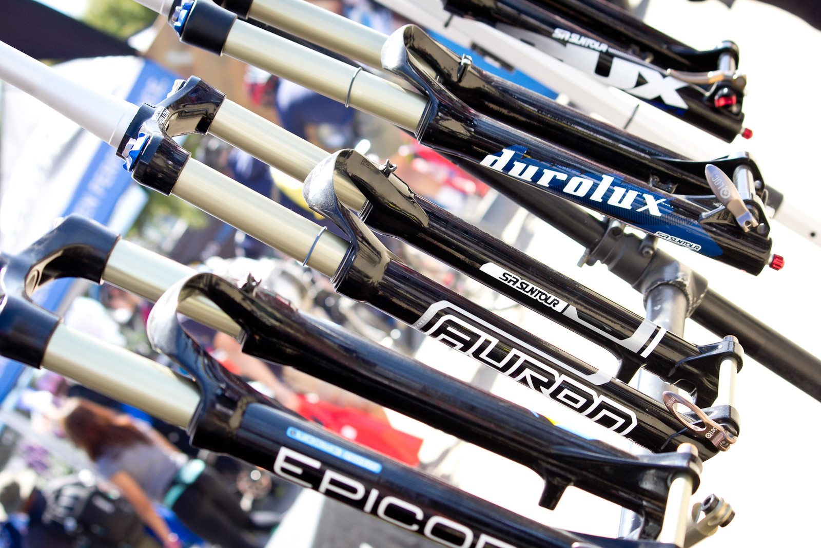 29-inch SR Suntour Auron Fork - Sea Otter Classic - 2014 Sea Otter Classic Pit Bits - Final Edition - Mountain Biking Pictures - Vital MTB
