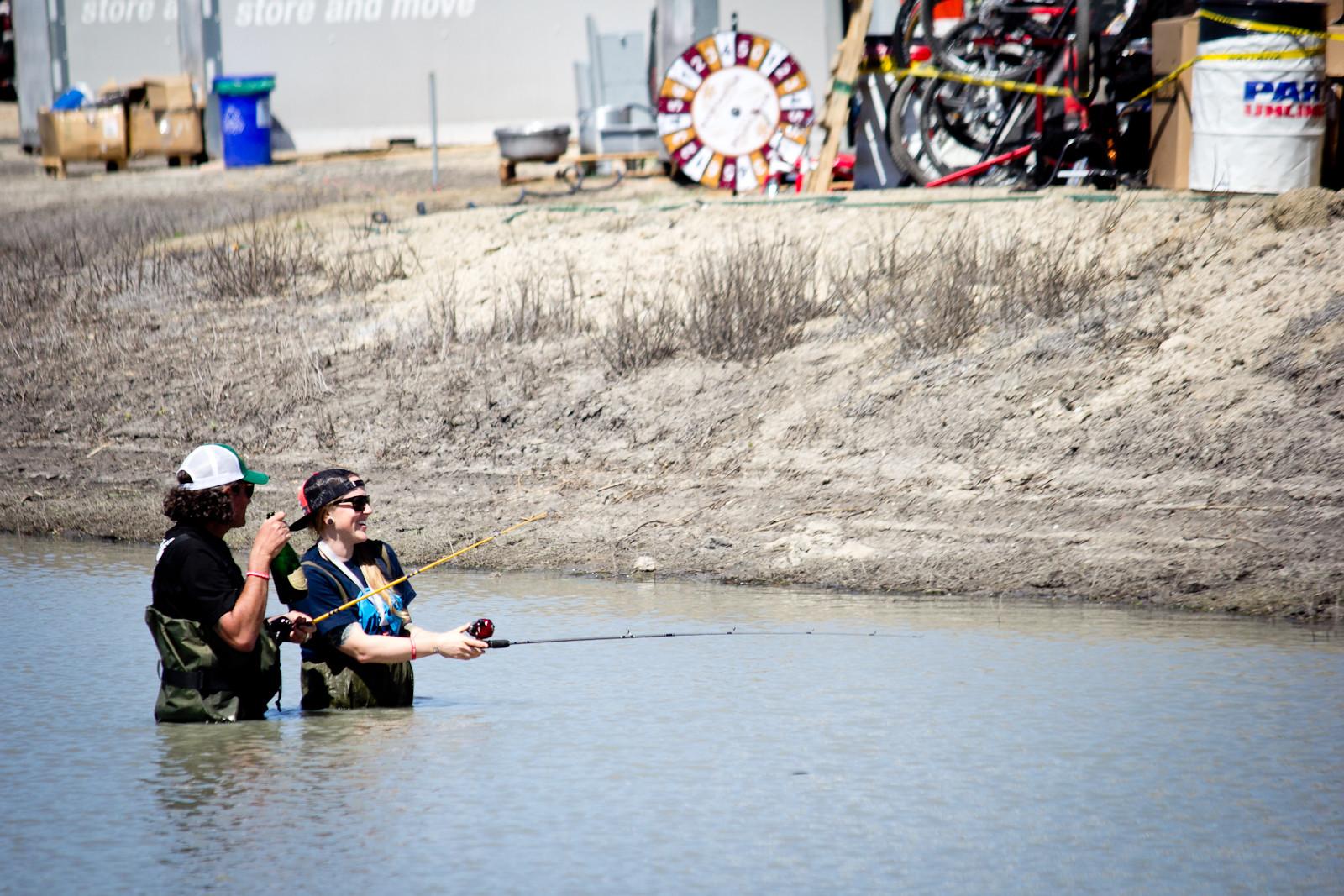 Pond Fishing - Sea Otter Classic - 2014 Sea Otter Classic Pit Bits - 3rd Edition - Mountain Biking Pictures - Vital MTB