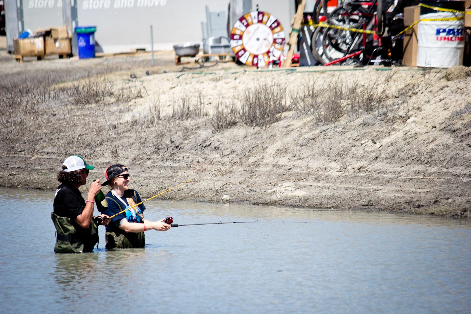 Pond Fishing - Sea Otter Classic - 2014 Sea Otter Classic Pit Bits - 3rd Edition - Mountain Biking Pictures - Vital MTB
