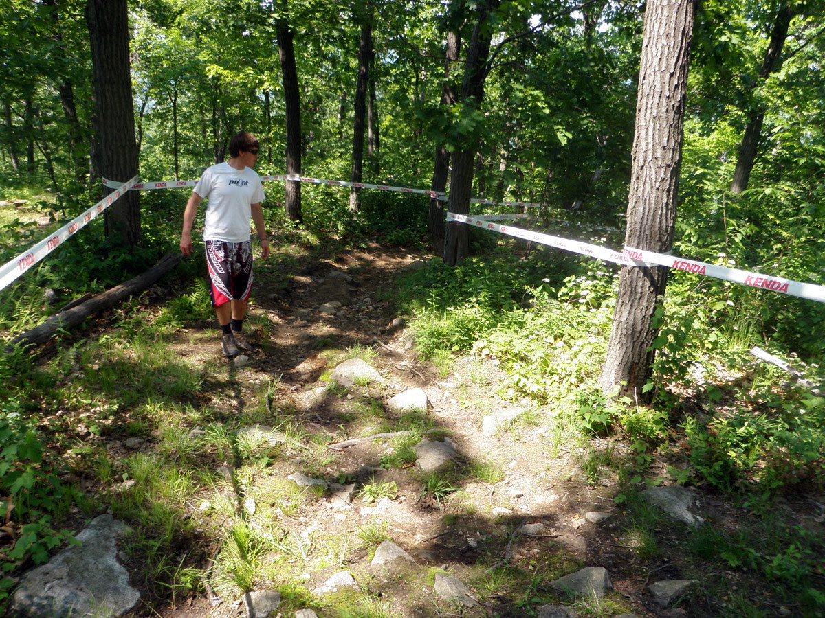 Inside or Outside? - US Open DH Course Walk Photos from Team Geronimo - Mountain Biking Pictures - Vital MTB