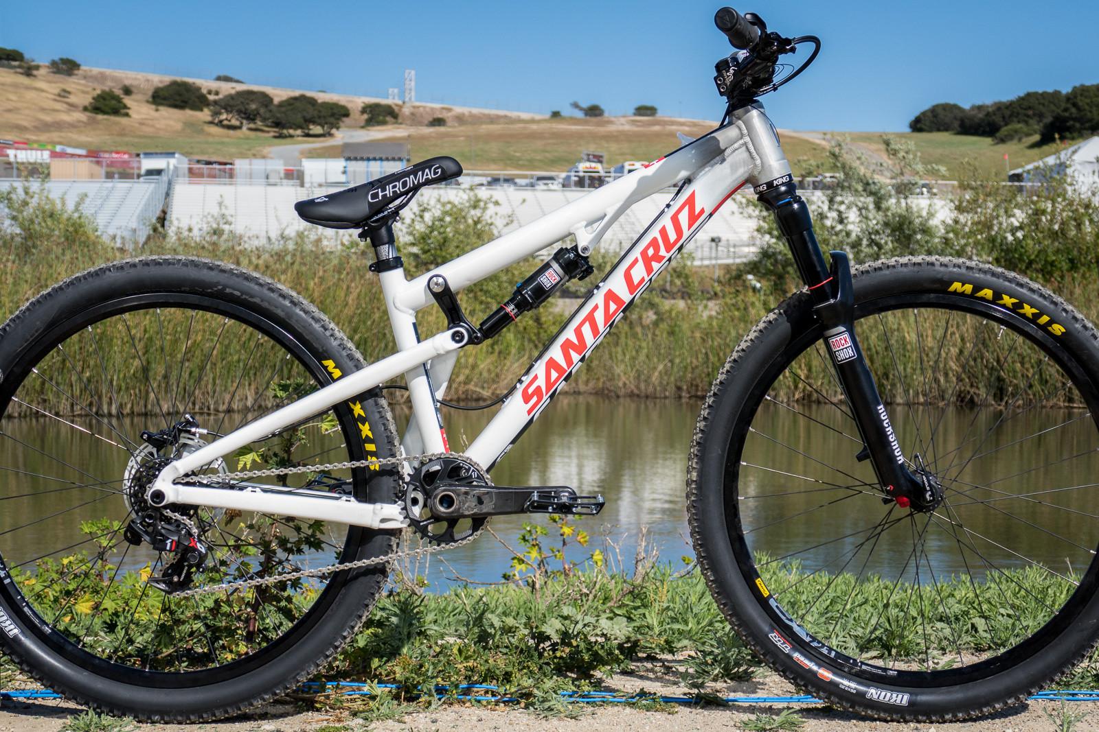 Logan Peat's Prototype Santa Cruz Slopestyle Bike - 2015 Sea Otter Classic Pit Bits - Mountain Biking Pictures - Vital MTB
