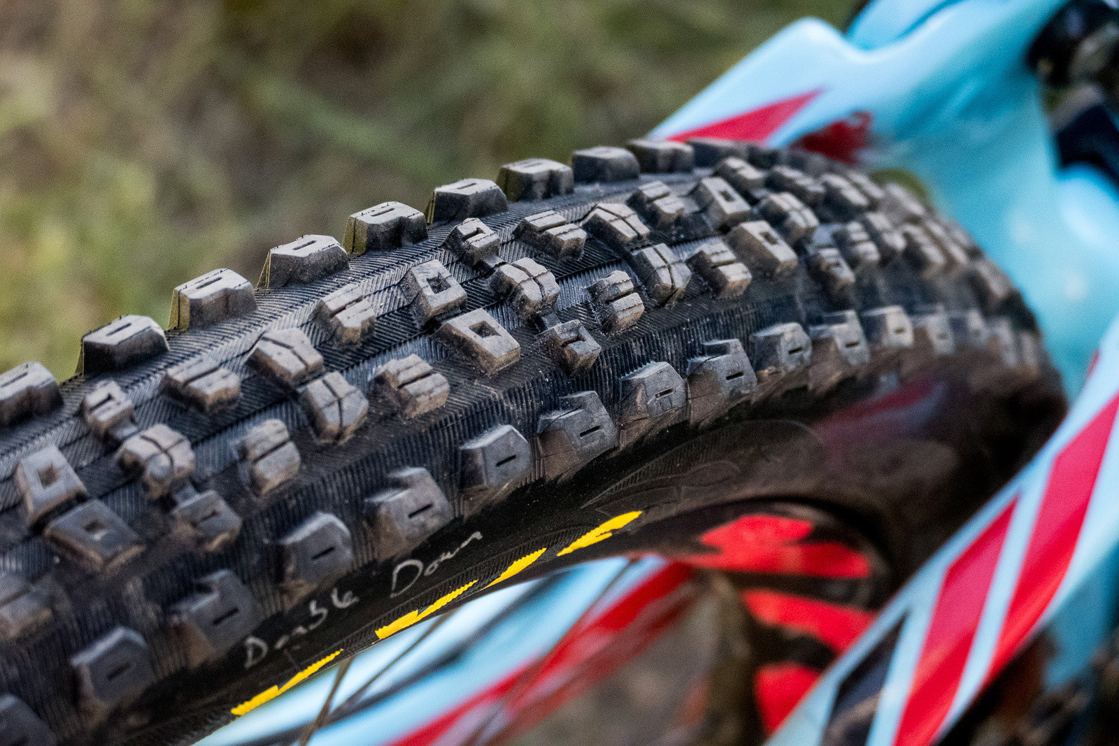 Prototype Maxxis Aggressor Tire with Double Down Casing - PIT BITS - Enduro World Series, Crested Butte, Colorado - Mountain Biking Pictures - Vital MTB