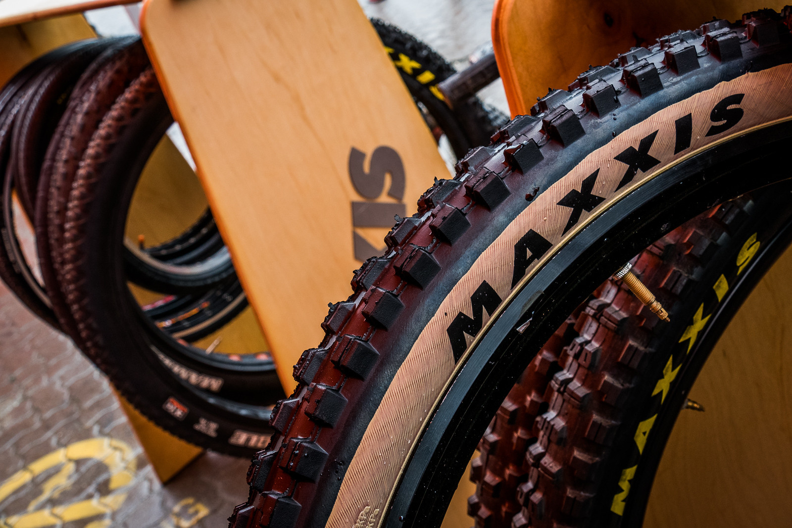 Maxxis Skinwall Tires - PIT BITS - New Products and Prototypes at Crankworx Whistler - Mountain Biking Pictures - Vital MTB