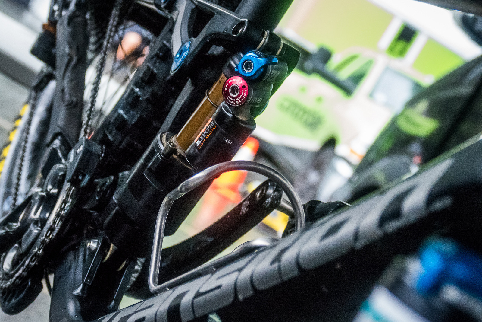 Prototype FOX Float X2 Propedal Lever - PIT BITS - New Products and Prototypes at Crankworx Whistler - Mountain Biking Pictures - Vital MTB