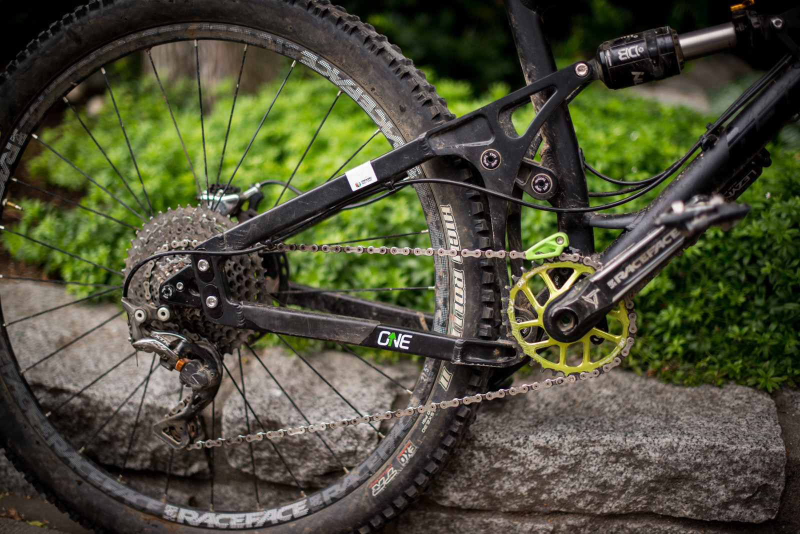 Prototype 10-45 Tooth Cassette and Chainguide from OneUp - PIT BITS - New Products and Prototypes at Crankworx Whistler - Mountain Biking Pictures - Vital MTB