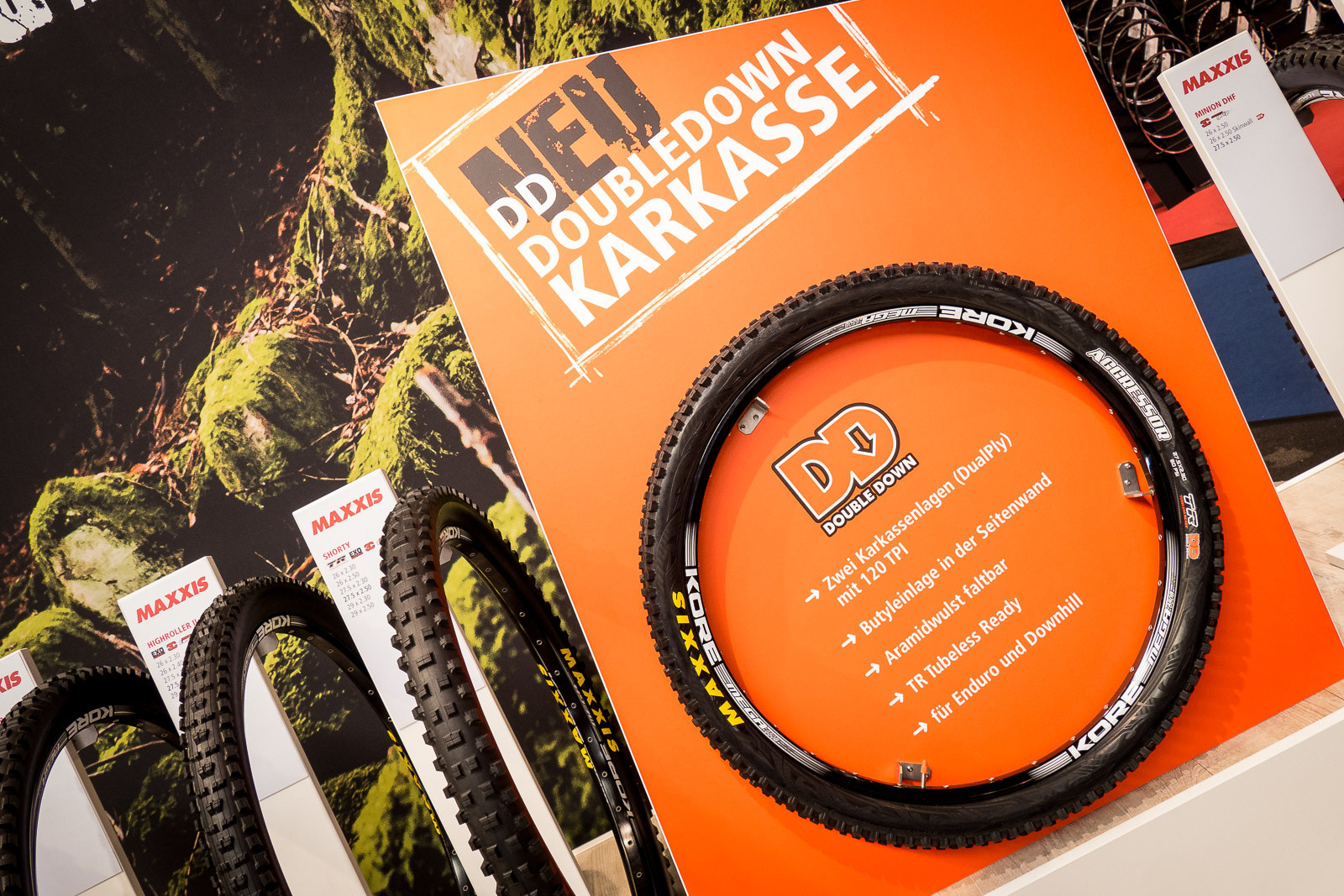 Maxxis Double Down Tire Casing - 2016 Mountain Bike Components at Eurobike - Mountain Biking Pictures - Vital MTB