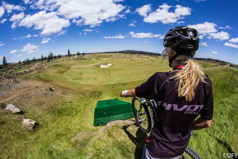 Contemplating the huck - Yuroshek - Mountain Biking Pictures - Vital MTB