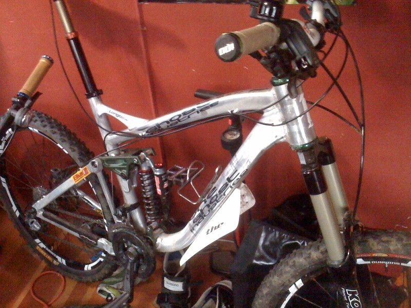 One Ghost Industries Longbow super D race bike prototype