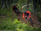 Robin Wallner and Alfred Widell riding Åre bike park
