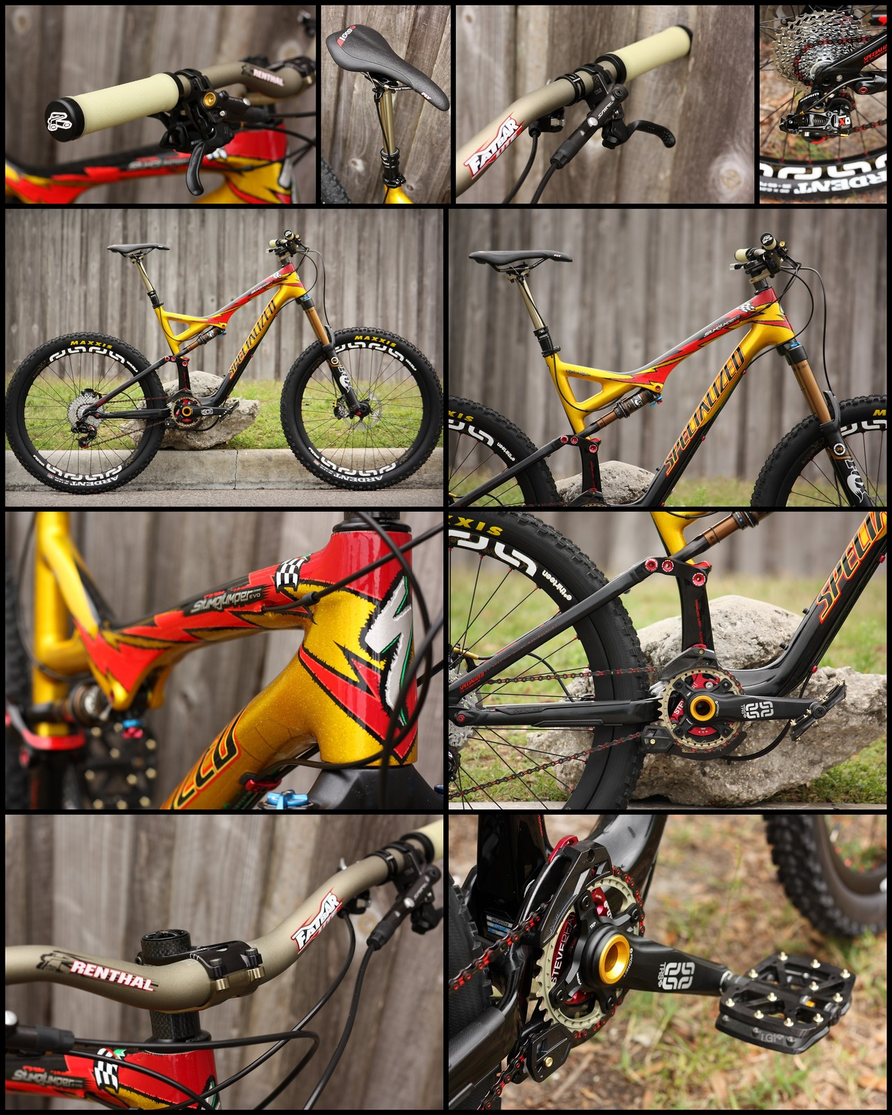 Custom Stumjumper Evo Carbon Limited Troy Lee Design Bike built by Casey of AJs Bikes and Boards