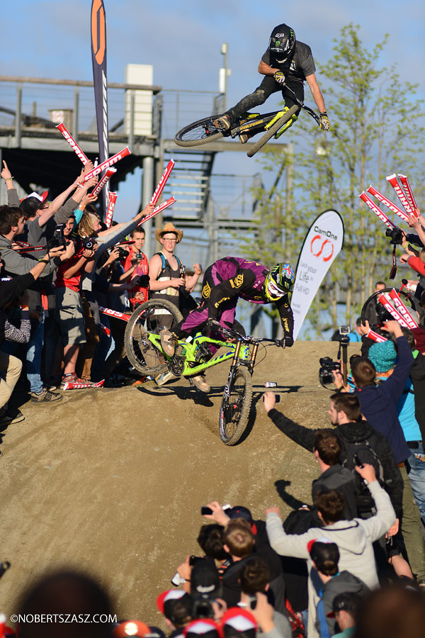 Brendan Fairclough and Sam Reynolds at Dirt Masters Whip Off 3 of 3 - NorbertSzasz - Mountain Biking Pictures - Vital MTB
