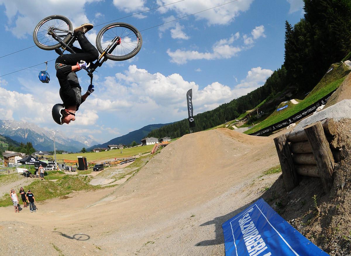 Matt Jones flipping the new drop - NorbertSzasz - Mountain Biking Pictures - Vital MTB