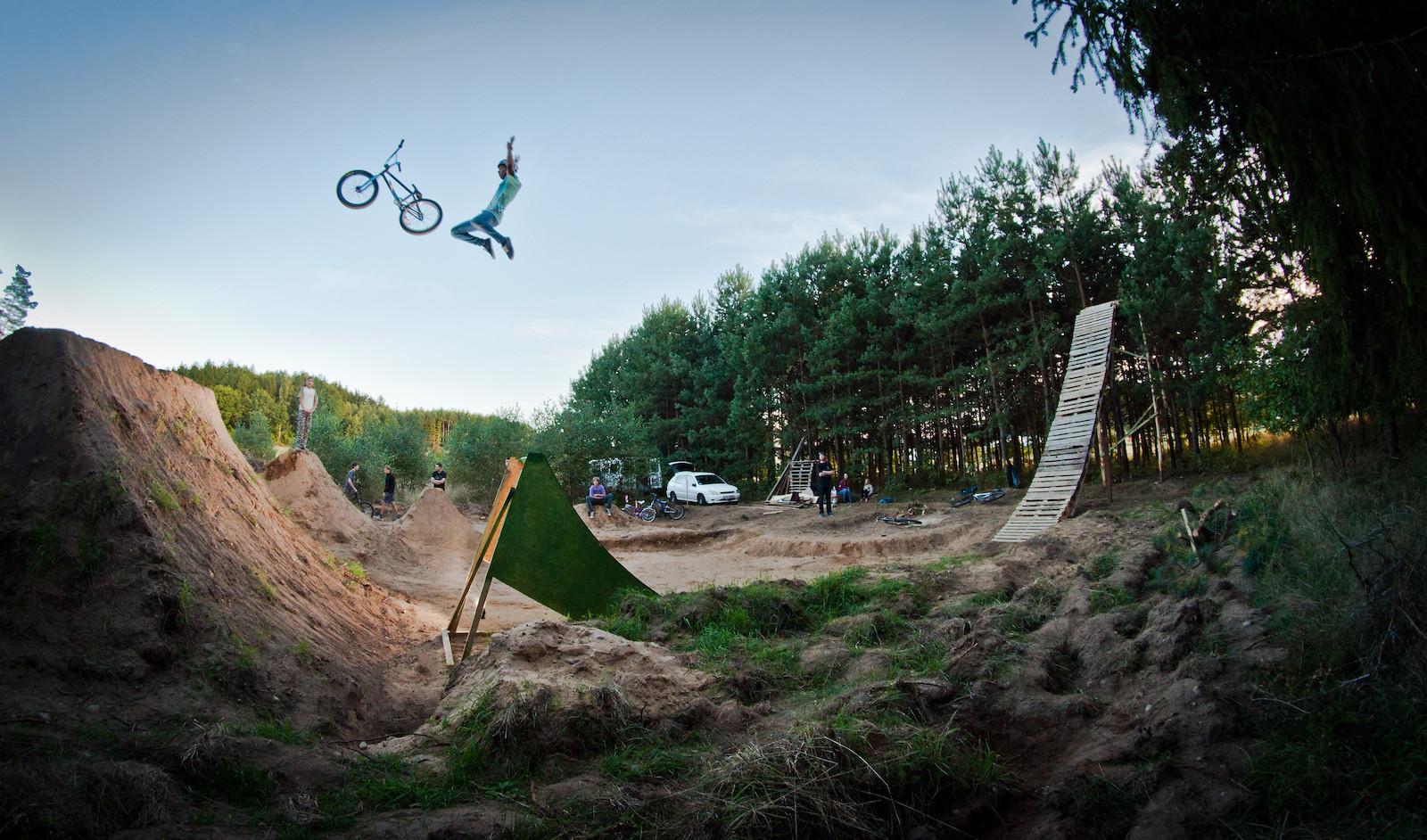 Testing new jumps - Dambak - Mountain Biking Pictures - Vital MTB