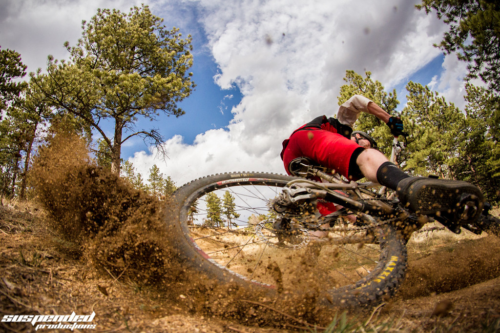 Dave Trumpore roosting me in the FACE. - suspended-productions - Mountain Biking Pictures - Vital MTB