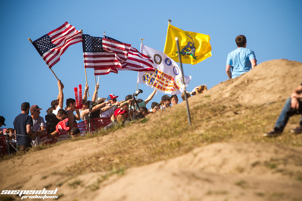 U.S.A. Fans Were Proud to Support Their Local Riders - suspended-productions - Mountain Biking Pictures - Vital MTB