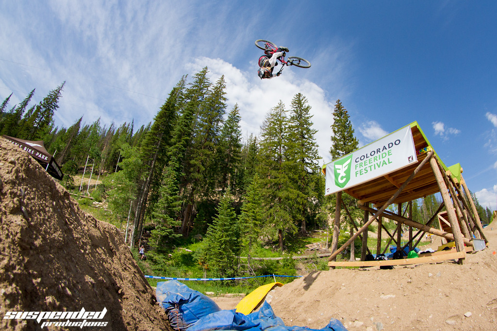 Logan Peat Stepdown Backflip at CFFest - suspended-productions - Mountain Biking Pictures - Vital MTB