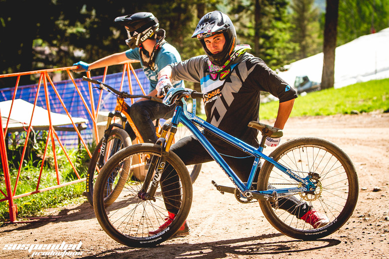 Mike Montgomery with his Mongoose Ritual at GoPro Mountain Games