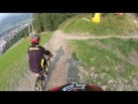 Luke Strobel and Connor Fearon Ride Schladming