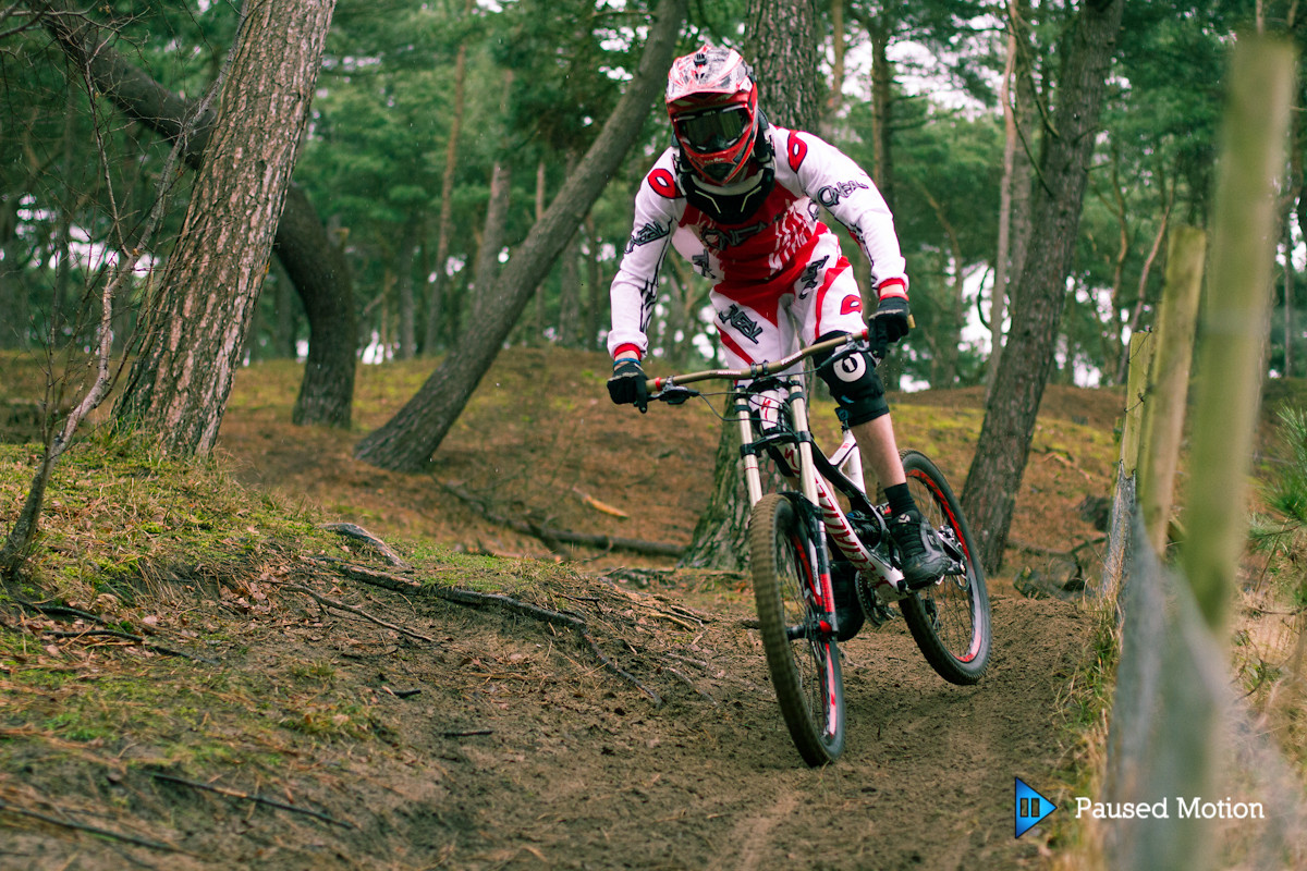 Breaking loose on the exit  - Cagphoto - Mountain Biking Pictures - Vital MTB