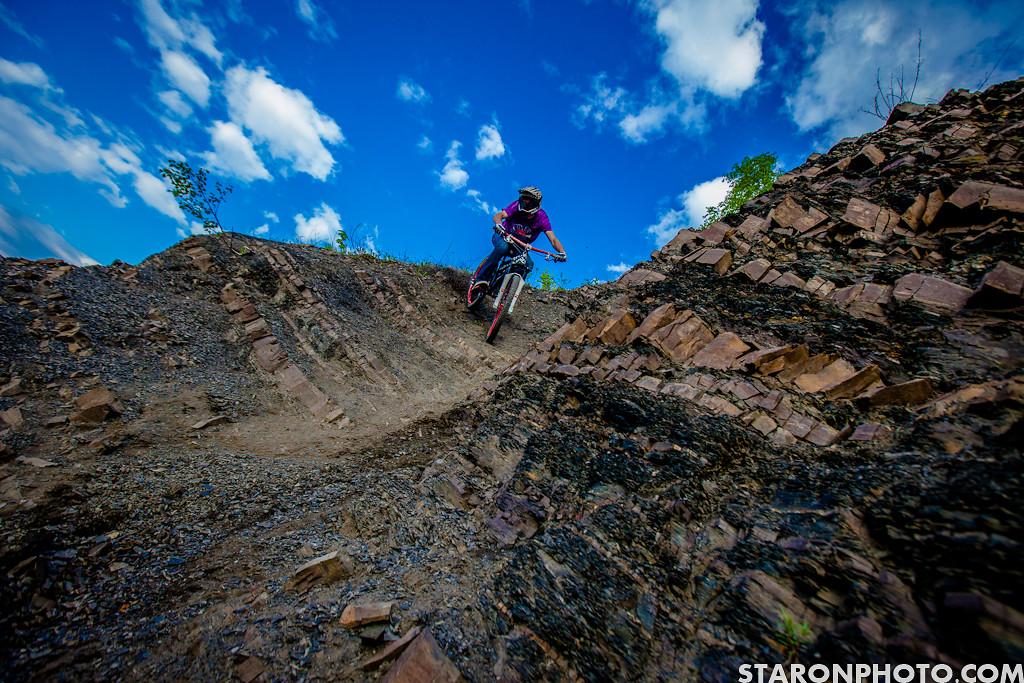 Shreddin down the quarry. - Hacz - Mountain Biking Pictures - Vital MTB
