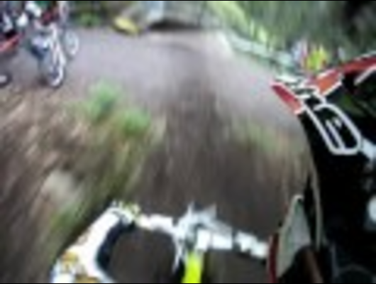 Rider Nearly Gets Landed On! - Trailfox Road Gap