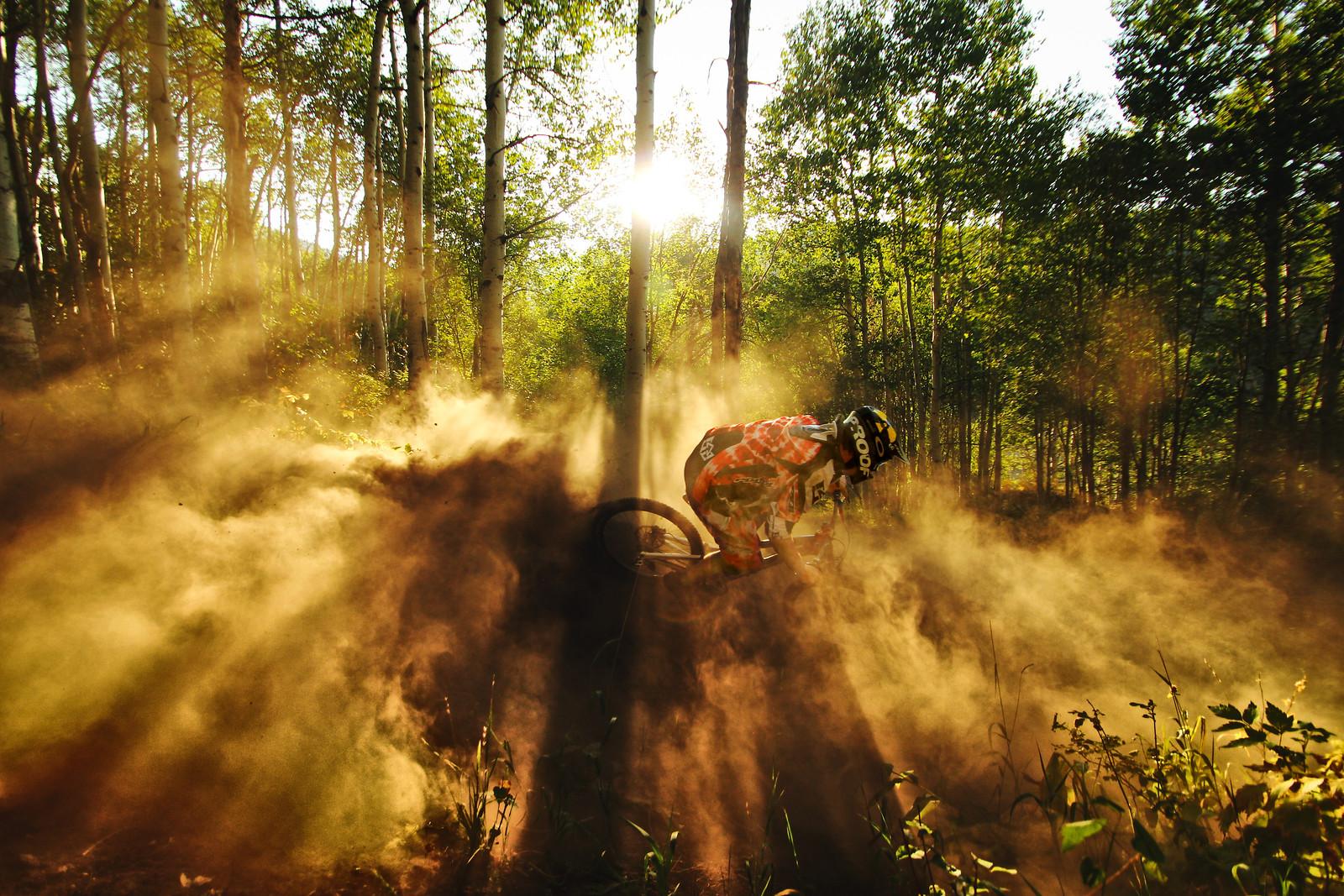 Railing a berm in the Jesus light - dirtjumpdaniel - Mountain Biking Pictures - Vital MTB