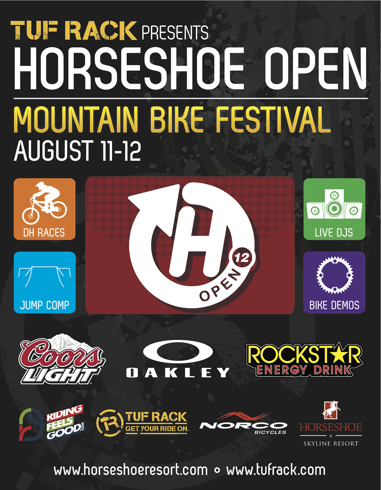horseshoeopen dh poster v3 - tufrack - Mountain Biking Pictures - Vital MTB