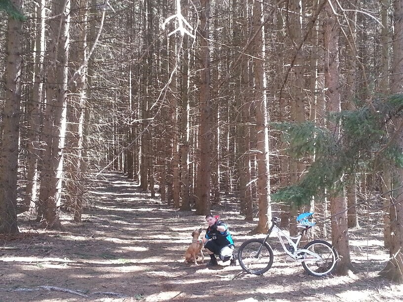 me and the dog  - andrew.pavlica - Mountain Biking Pictures - Vital MTB