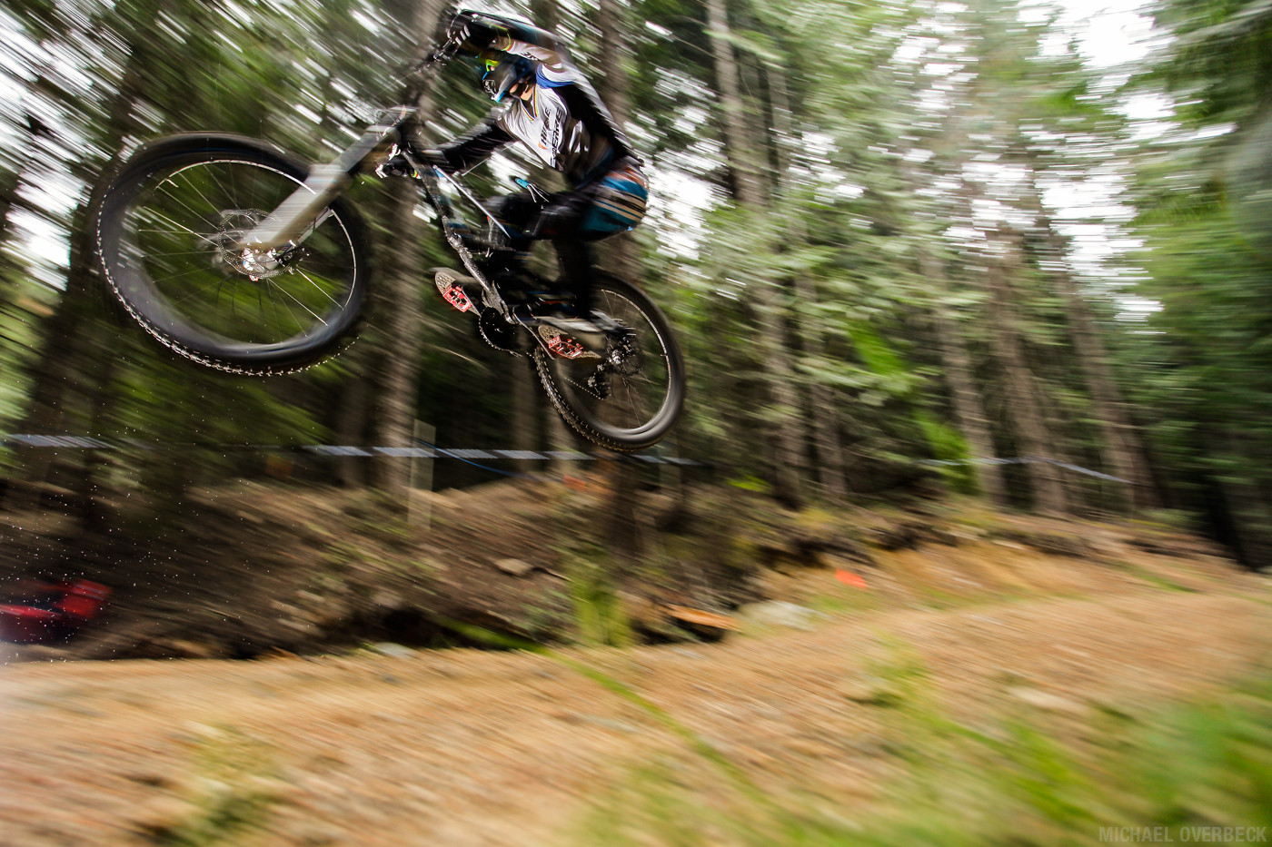 Unknown rider making it down the Fox Air DH. - Michael Overbeck Photography - Mountain Biking Pictures - Vital MTB