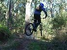 Hard Tail Downhilling in Bright, Victoria
