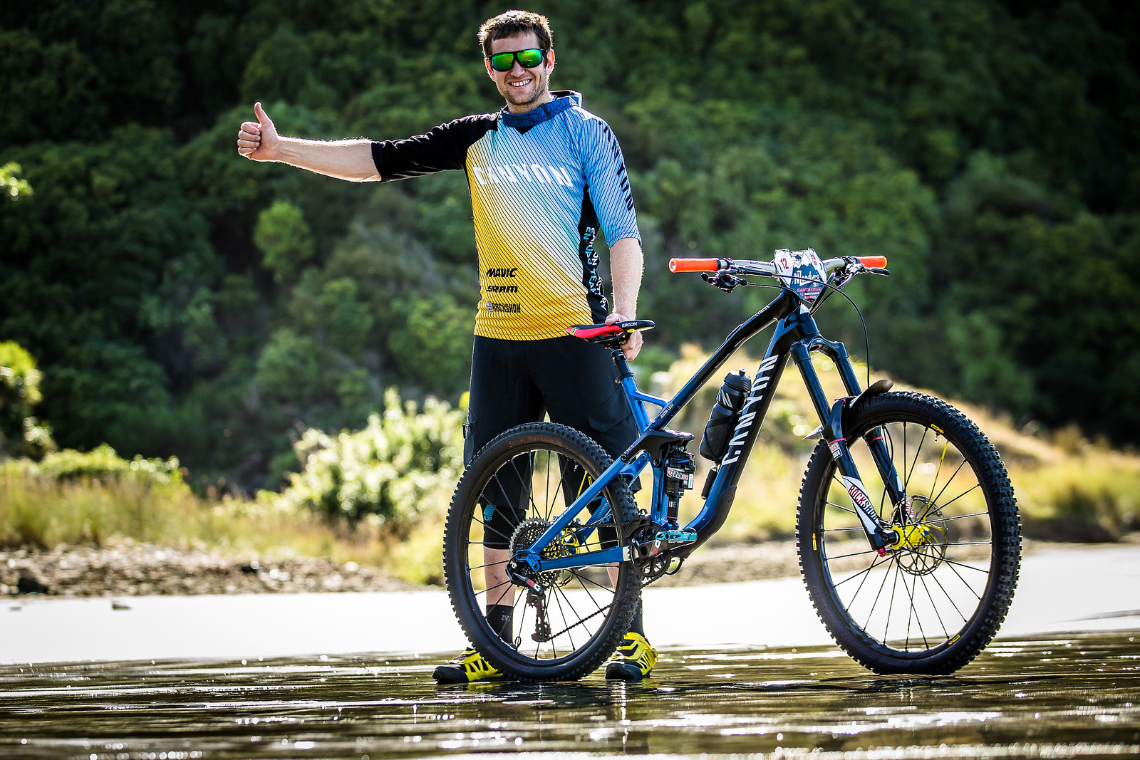 2017 NZ Enduro Pro Bikes - Justin Leov's Canyon Strive - 2017 NZ Enduro Pro Bikes - They Wreck 'Em, We Check 'Em - Mountain Biking Pictures - Vital MTB