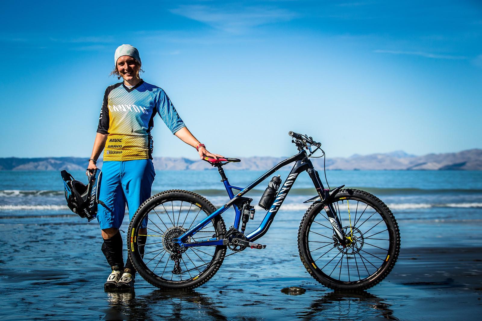 2017 NZ Enduro Pro Bikes - Ines Thoma's Canyon Strive - 2017 NZ Enduro Pro Bikes - They Wreck 'Em, We Check 'Em - Mountain Biking Pictures - Vital MTB