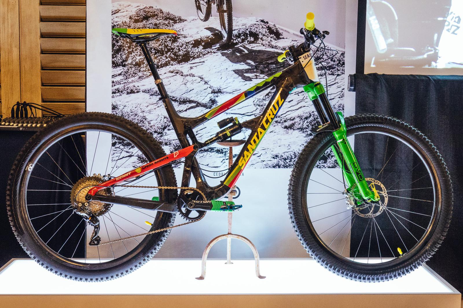 Cedric Gracia's Custom Santa Cruz - 2017 Sea Otter Classic Pit Bits - Mountain Biking Pictures - Vital MTB