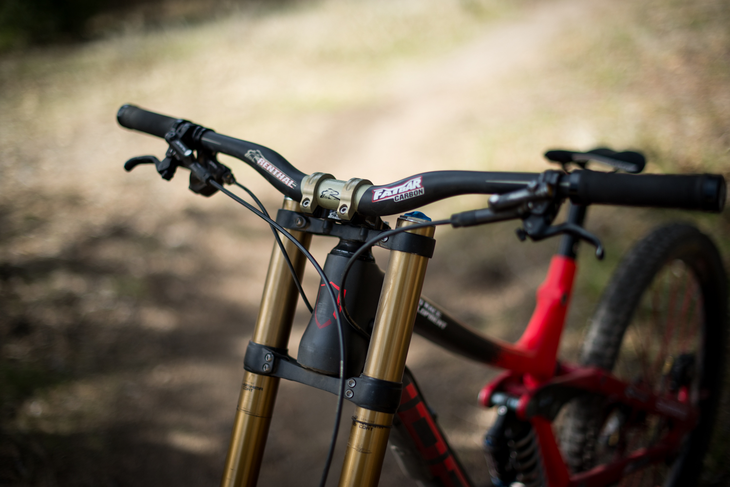 Renthal Fatbar Carbon Bars With Proto Stem