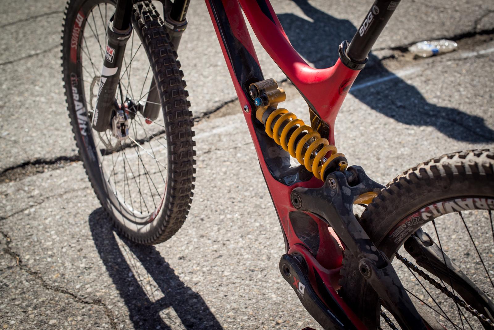 Öhlins TTX Rear Shock - Winning Bike - Mitch Ropelato's Specialized Demo 8 - Mountain Biking Pictures - Vital MTB