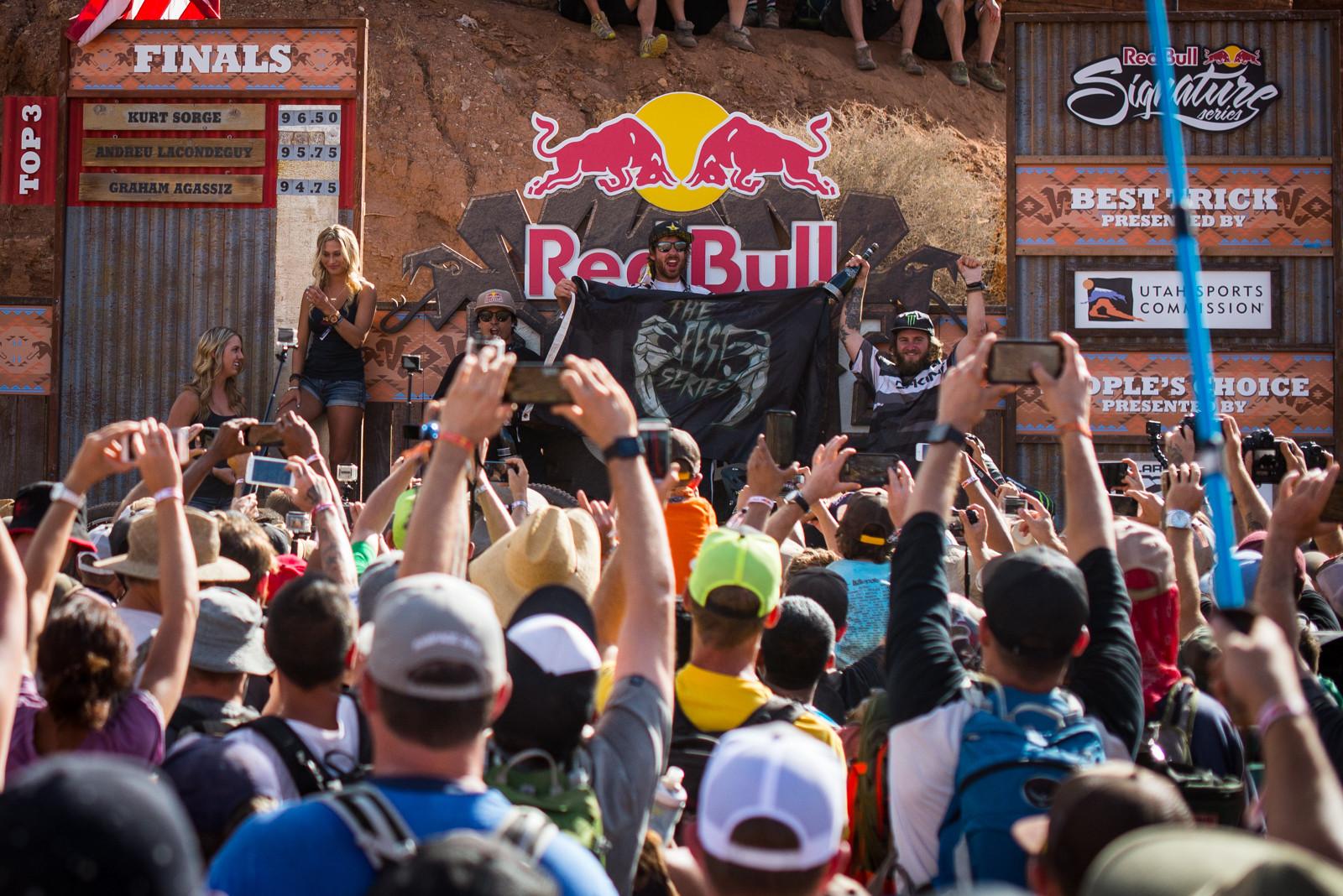 2015 Rampage Podium - 2015 Red Bull Rampage Finals - Mountain Biking Pictures - Vital MTB