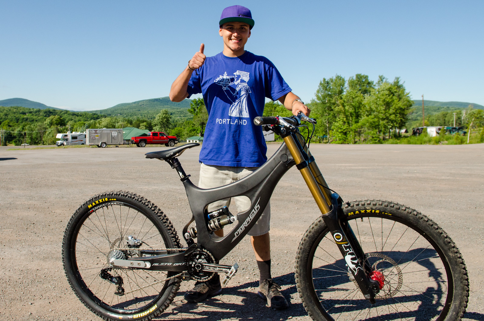 What Are They Riding, Windham World Cup: Alejo Ortiz's Morpheus Carbon DH - What Are They Riding: Windham - Mountain Biking Pictures - Vital MTB