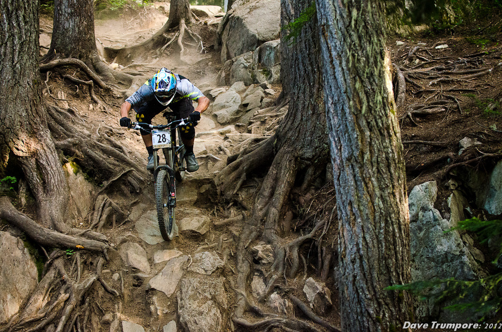 Chris Kovarik, 3rd at Whistler Crankworx Garbanzo DH - Garbanzo DH from Crankworx - Mountain Biking Pictures - Vital MTB