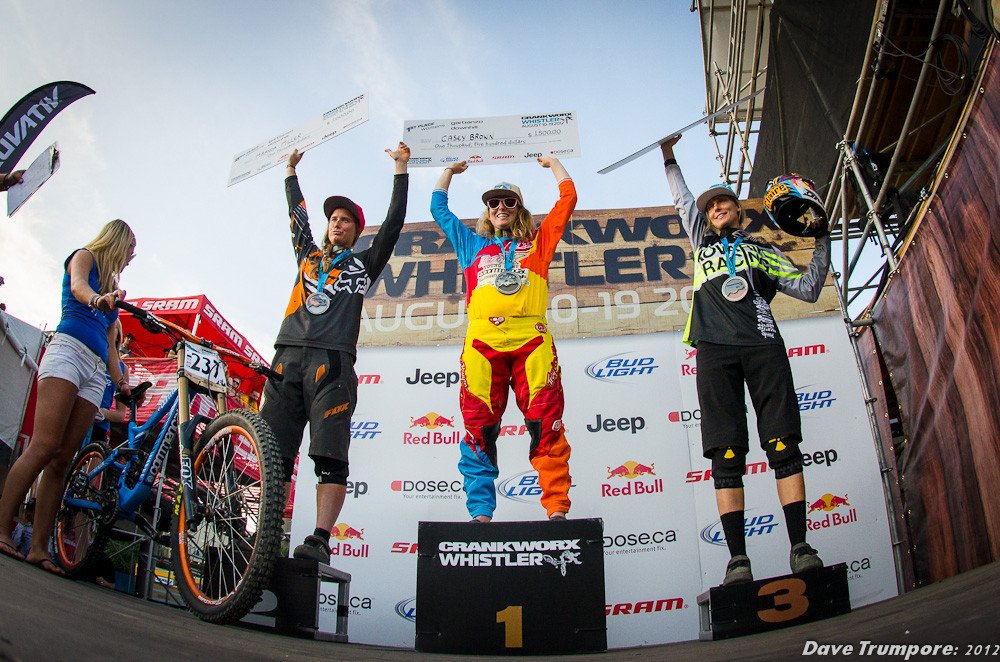 Casey Brown wins the Whistler Crankworx Garbanzo DH - Garbanzo DH from Crankworx - Mountain Biking Pictures - Vital MTB