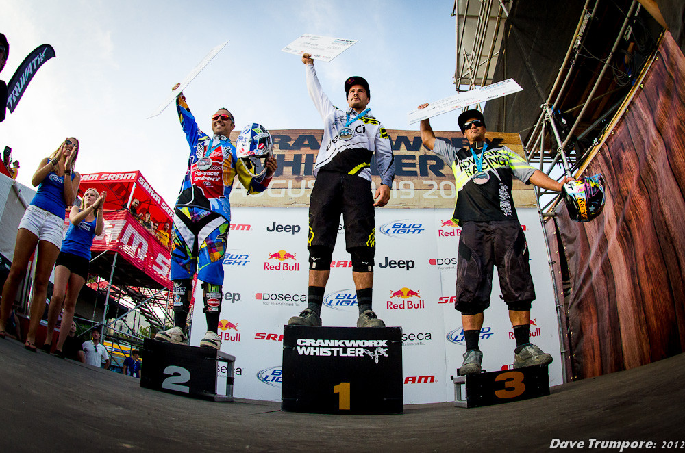 Mens Podium at Whistler Crankworx Garbanzo DH - Garbanzo DH from Crankworx - Mountain Biking Pictures - Vital MTB