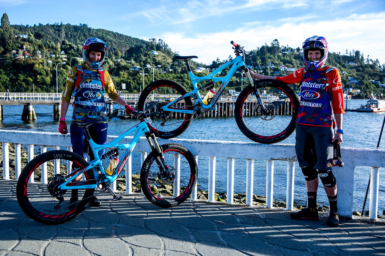 Anita and Carolin Gehrig with their Ibis' - PIT BITS - Enduro World Series, Corral, Chile - Mountain Biking Pictures - Vital MTB