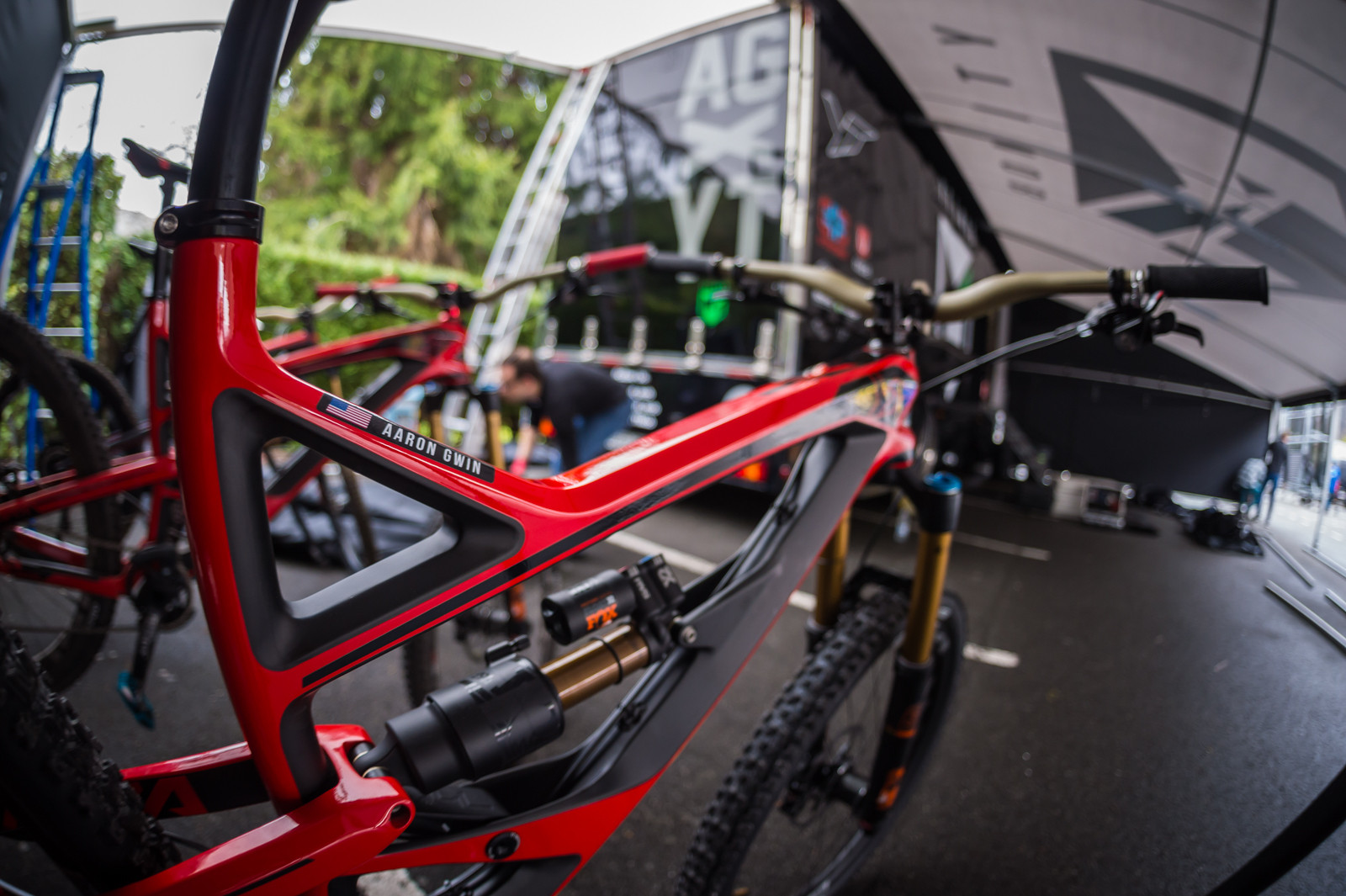 Aaron Gwin's YT Capra - PIT BITS - 2016 Lourdes World Cup Downhill - Mountain Biking Pictures - Vital MTB