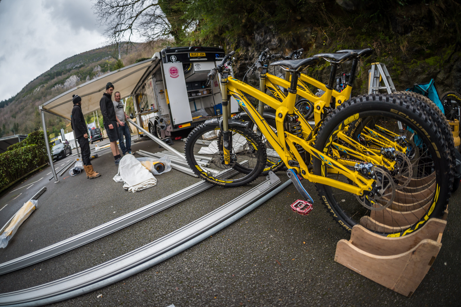 Dirt Propain Zelvy Team Rigs and Digs - PIT BITS - 2016 Lourdes World Cup Downhill - Mountain Biking Pictures - Vital MTB