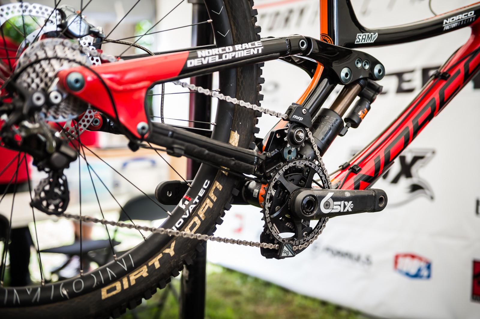 Sam Blenkinsop's Norco Aurum - PIT BITS - 2016 Lourdes World Cup Downhill - Mountain Biking Pictures - Vital MTB