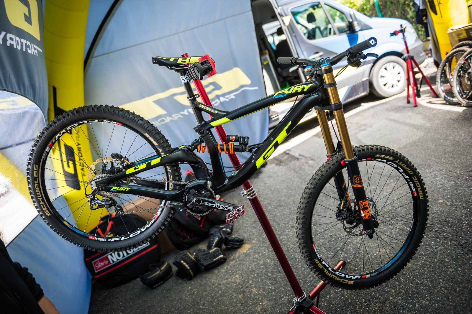 Brook MacDonald's GT Fury - PIT BITS - 2016 Lourdes World Cup Downhill - Mountain Biking Pictures - Vital MTB
