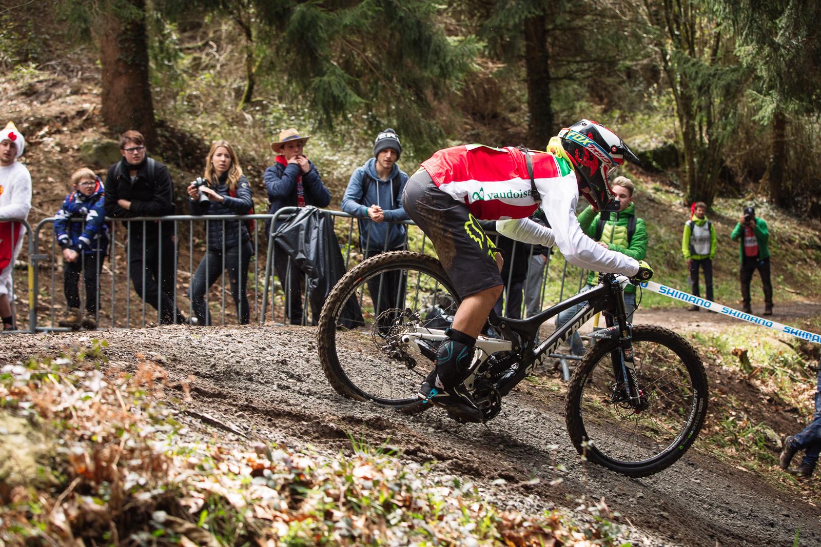 Santa Cruz V10 Bottom Out at Lourdes World Cup - G-Out Project - Lourdes World Cup DH - Mountain Biking Pictures - Vital MTB