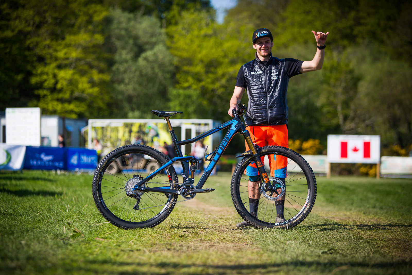 Greg Callaghan with his CUBE - PIT BITS - Enduro World Series, Wicklow, Ireland - Mountain Biking Pictures - Vital MTB
