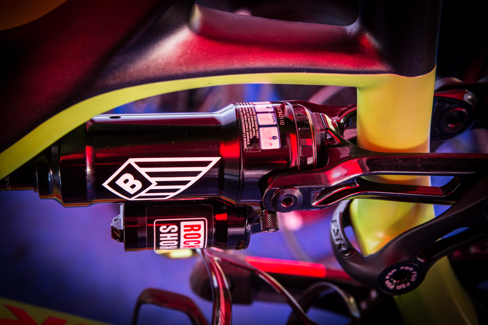 Jared Graves' BlackBox Rear Shock  - PIT BITS - Enduro World Series, Wicklow, Ireland - Mountain Biking Pictures - Vital MTB